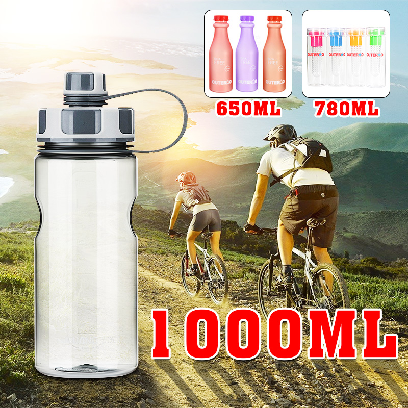 1000ML BPA Free Outdoor Sports Healthy Drinking Water Bottle