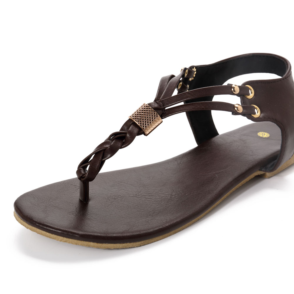 d604b51dc049 US Size 5-12 Women Casual Soft Metal Beach Sandals for sale