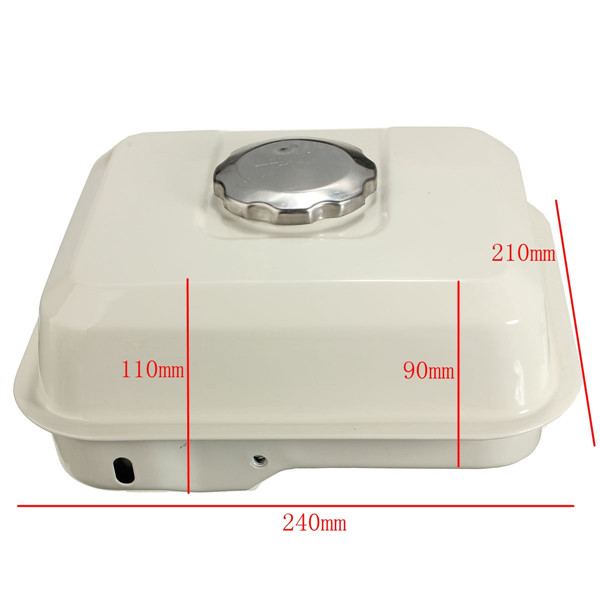 Fuel Gas Tank with Petcock Gas Cap Filter White For Honda GX160 5.5HP