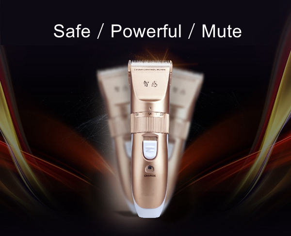 Rechargeable Mute Adult Child Hair Clipper Trimmer Scissors Manual Barber Shaving Knife Bomb Kit