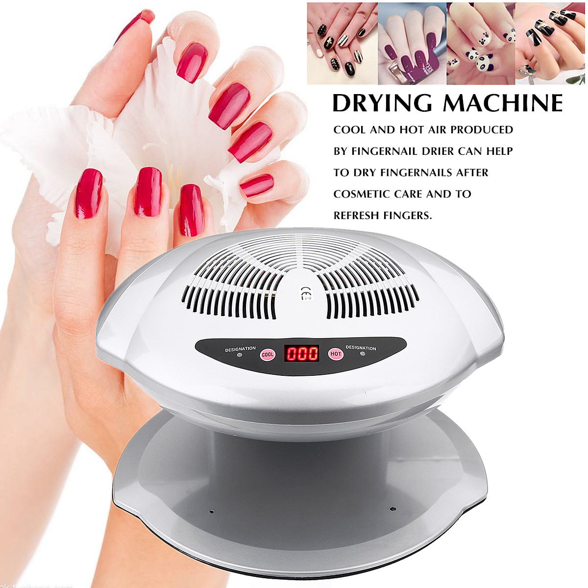 400W Nail Art Polish Varnish Dryer Machine