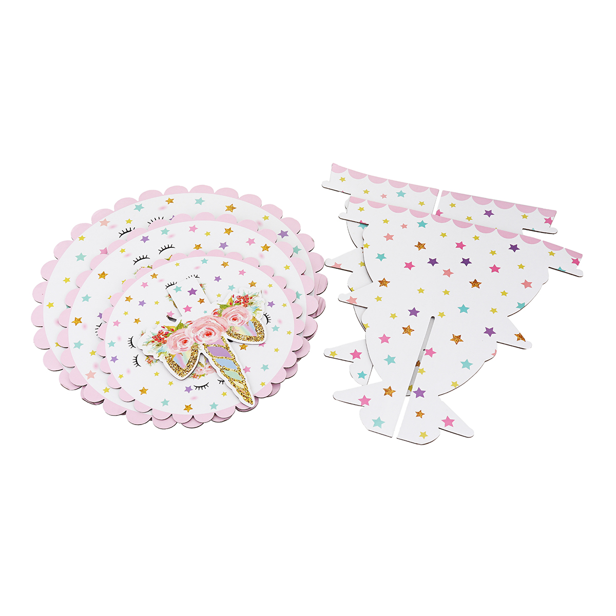 3-tier Cake Stand Unicorn Baby Shower Supplie Kids Birthday Party Decorations