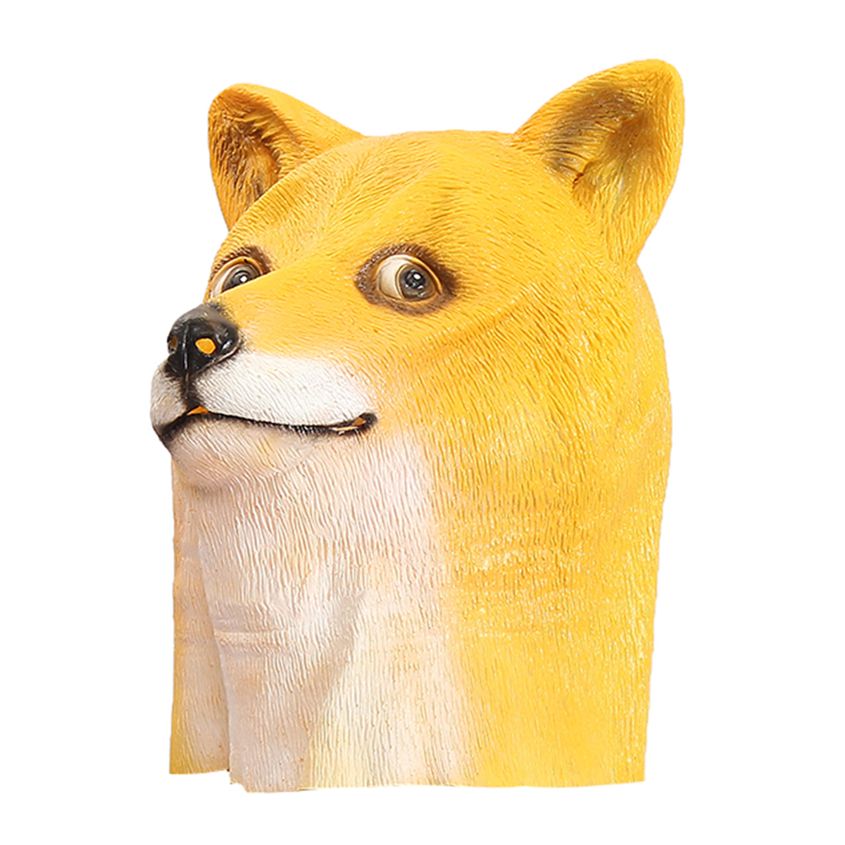 Doge Head Mask Creepy Animal Halloween Costume Theater Prop Latex Party Toy