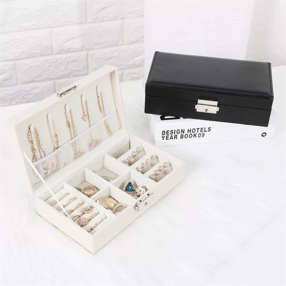Portable Travel Jewelry Box Organizer Velvet Jewelry Storage