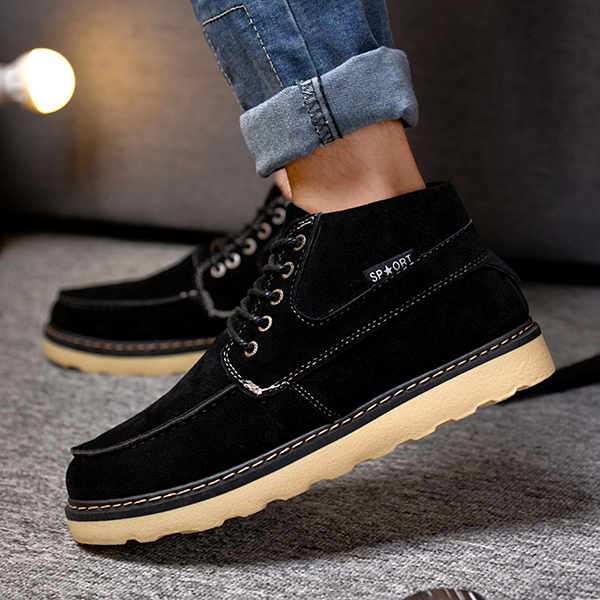 Men Comfortable Casual High Top Outdoor Suede Boots
