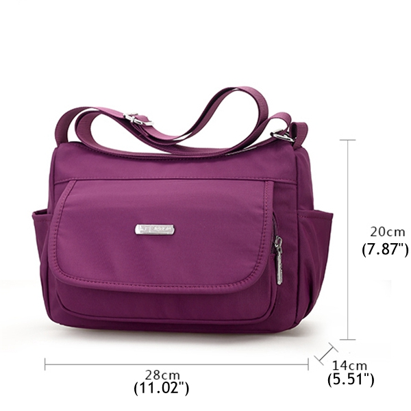 Women Simple Nylon Lightweight Crossbody Bags Travel Should