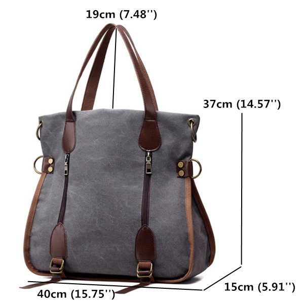 Women Canvas Tote Handbags Casual Shoulder Bags Multifunction Crossbody Shopping Bags