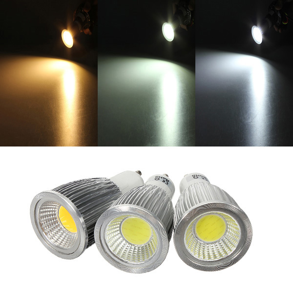 GU10 7W 700-750LM Dimmable COB LED Spot Lamp Light Bulb