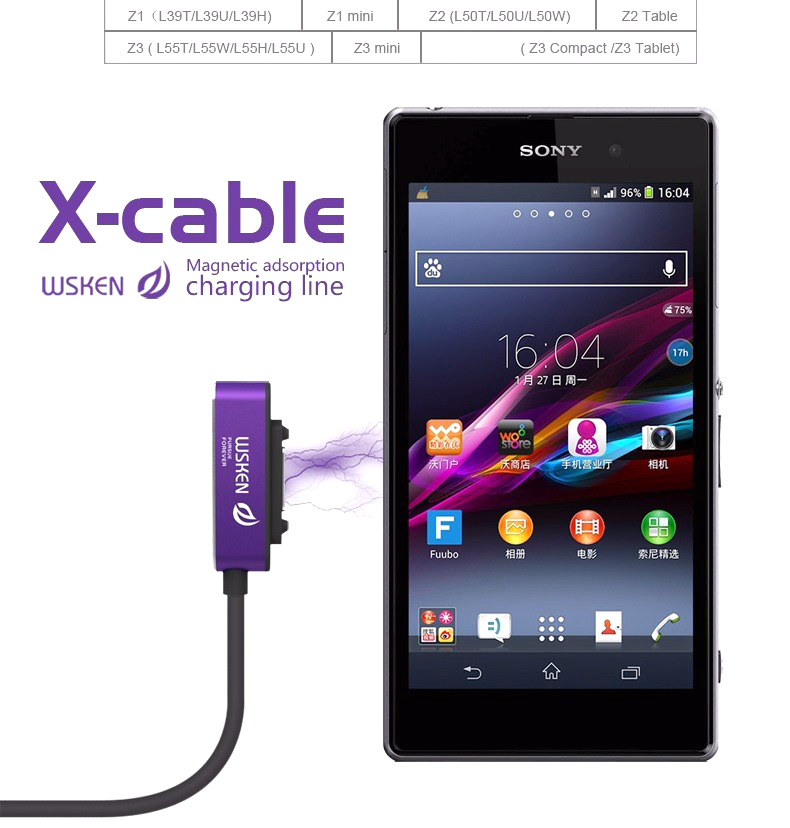 Sony Xperia Z3 Compact Magnetic Charging Cable