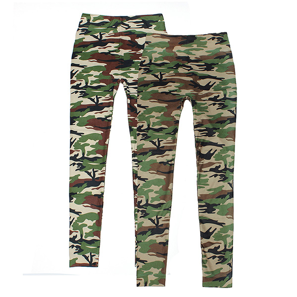 Women Lady Camouflage Stocking Army Tights Pants Stretch Leggings