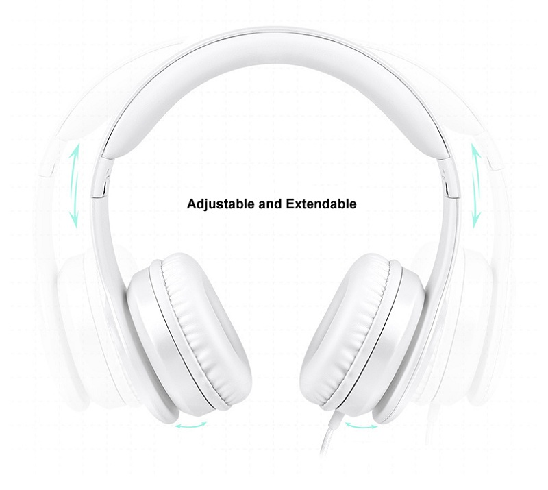 Picun Wired Headphone 3.5mm Stereo HIFI Noise Cancelling Gaming Handsfree Headset Earphone With Mic