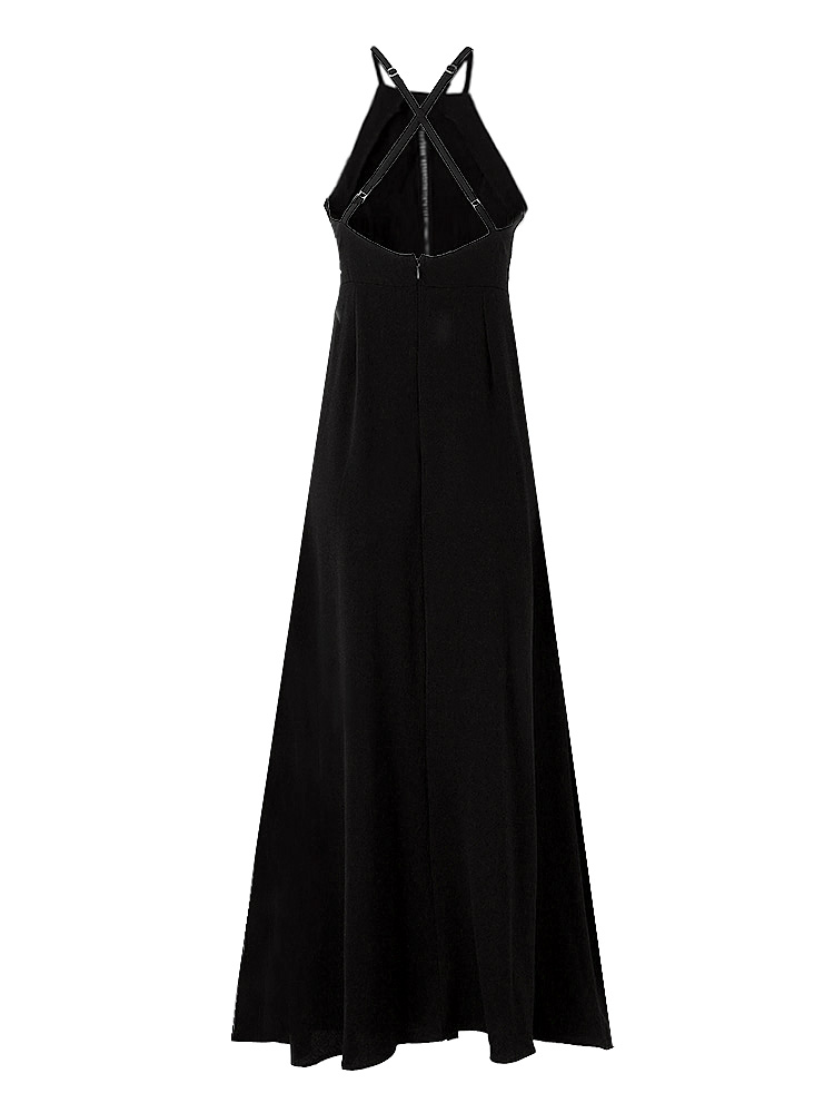 Sexy Women Sleeveless Embroidery Hollow Backless Long Maxi Dresses