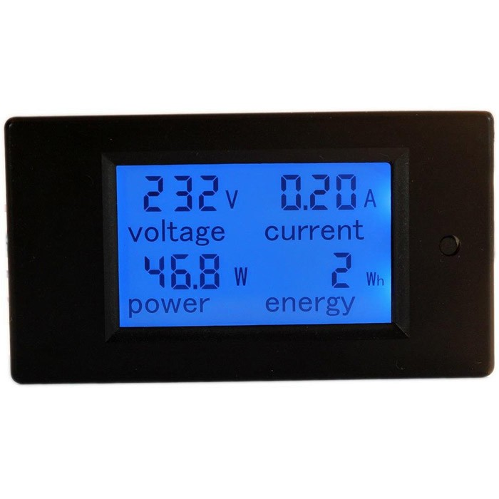 PZEM-021 4 in 1 LCD Voltage Current Active Power Energy Meter Blue Backlight Panel Voltmeter Ammeter KWH Meter 0-20A 80-260V 50/60HZ