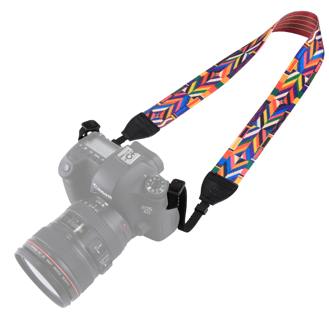 PULUZ PU6008C Retro Ethnic Style Multi-color Series Shoulder Neck Strap for SLR DSLR Cameras