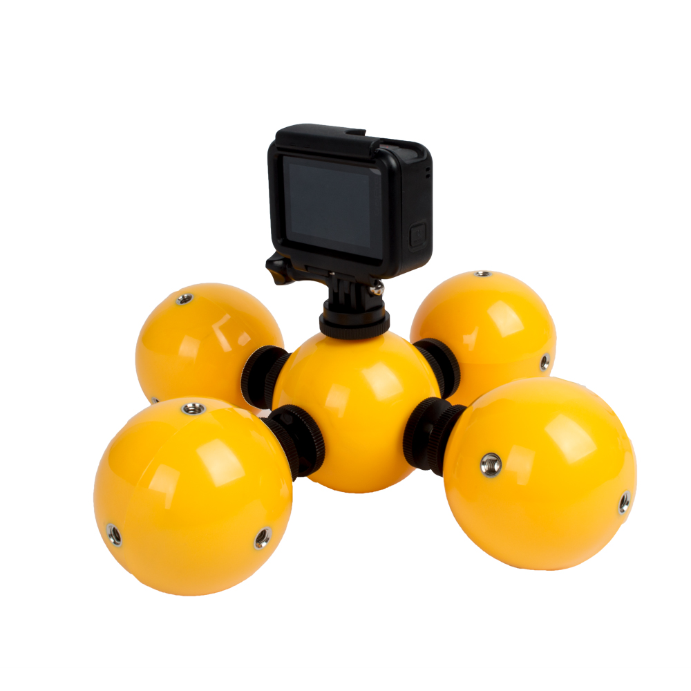 Floating Ball Bobber Float with Safety Lanyard Strap for Gopro SJCAM Xiaomi Yi Action Camera