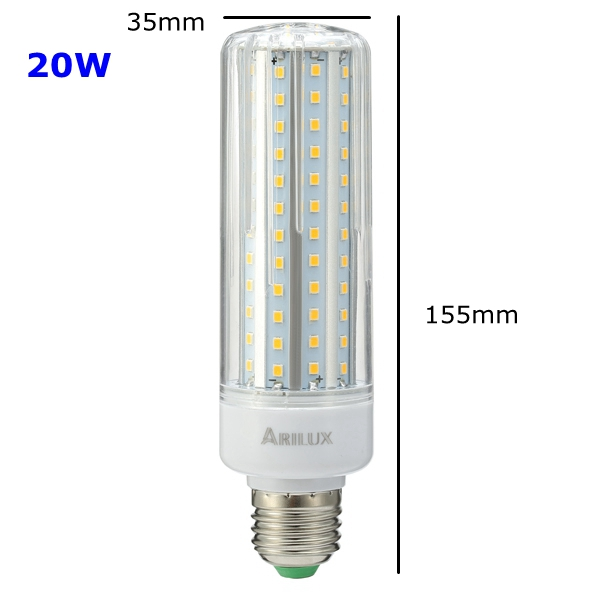 ARILUX® HL-CB 02 E27 E14 5W 10W 15W 20W SMD2835 No Strobe LED Corn Light Bulb AC85-265V