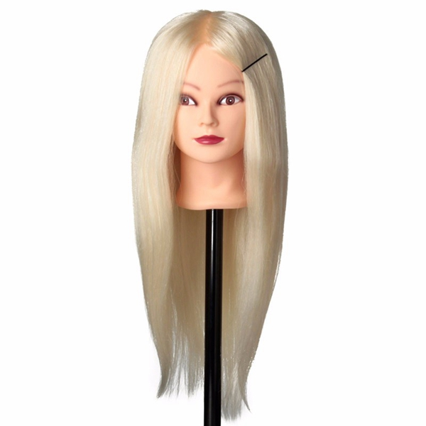 30% Real Human Hair Training Mannequin Head Salon Hairdressing Makeup Practice With Clamp