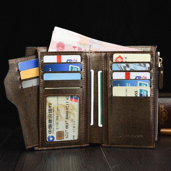 Men Business Multifunctional Money Card Bag Wallet