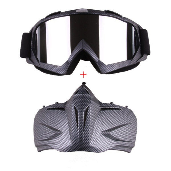 Motorcycle Goggles Skiing Skateboarding Motocross Detachable Full Face Antifog Helmet Mask Adult