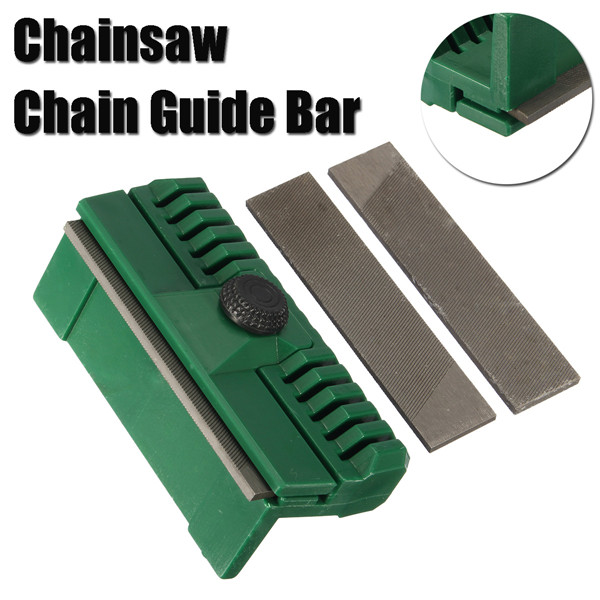 3pcs Chainsaw Chain Guide Bar Rail Dresser File with 2 Files Lawn Mower Chainsaw Tool
