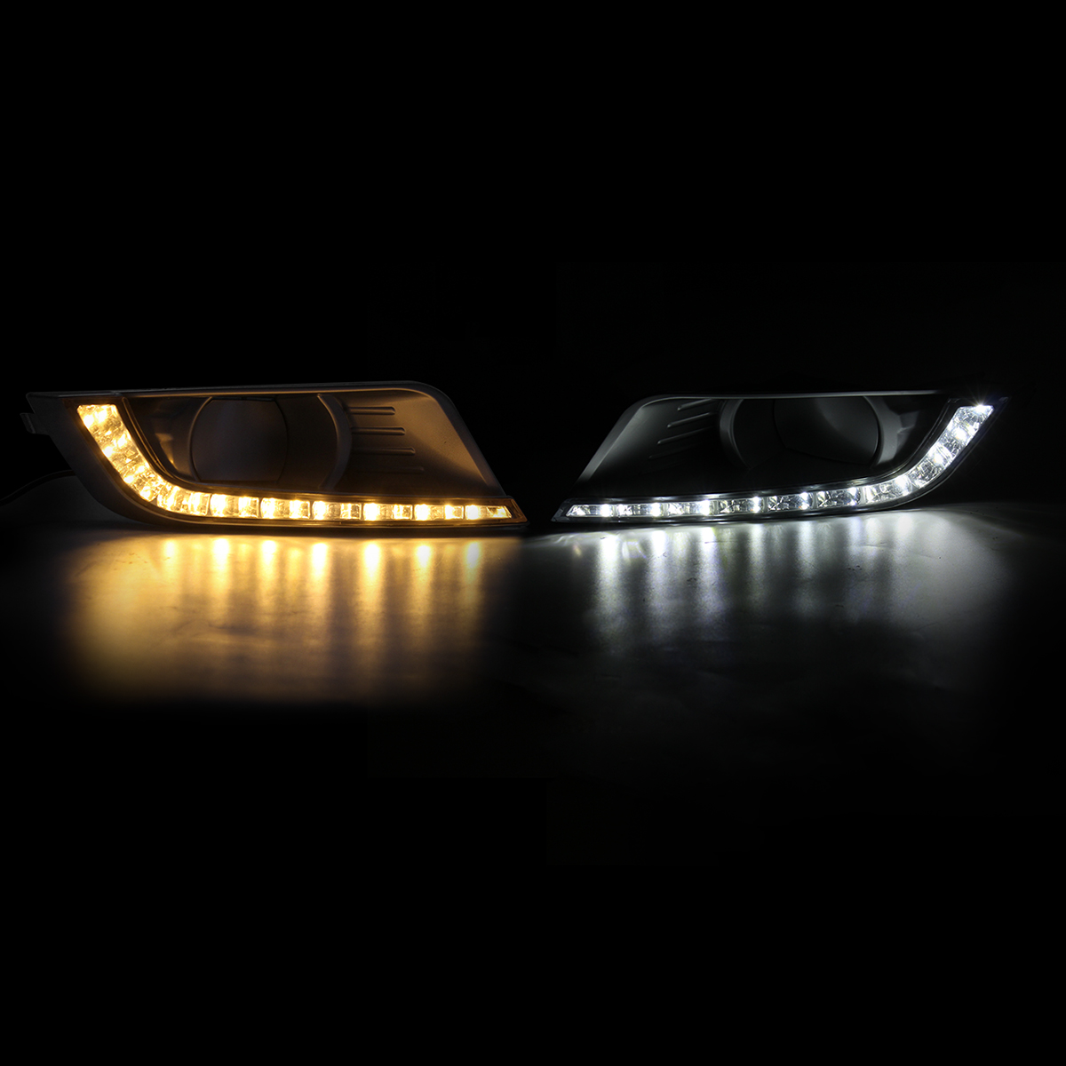 2PCS 12V Car LED Daytime Running Lights DRL Turn Signal Lamp for Ford Ranger PX Mk2 15-18