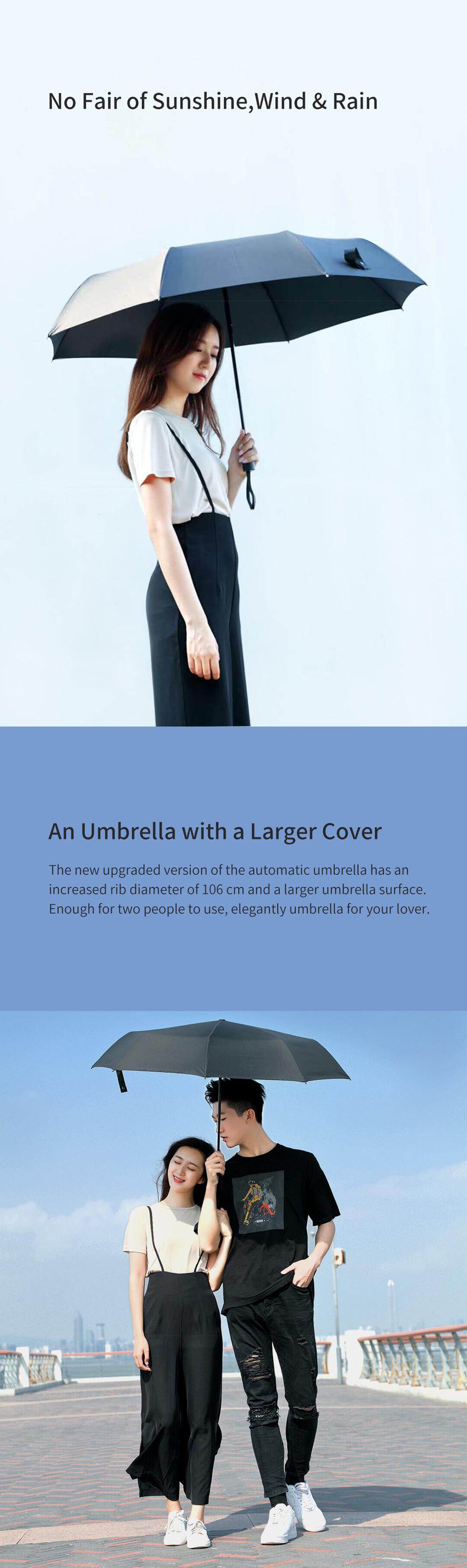 Xiaomi Mijia Pinluo Automatic Umbrella Sunny Rainy Aluminum Windproof Waterproof UV Parasol for Man Woman