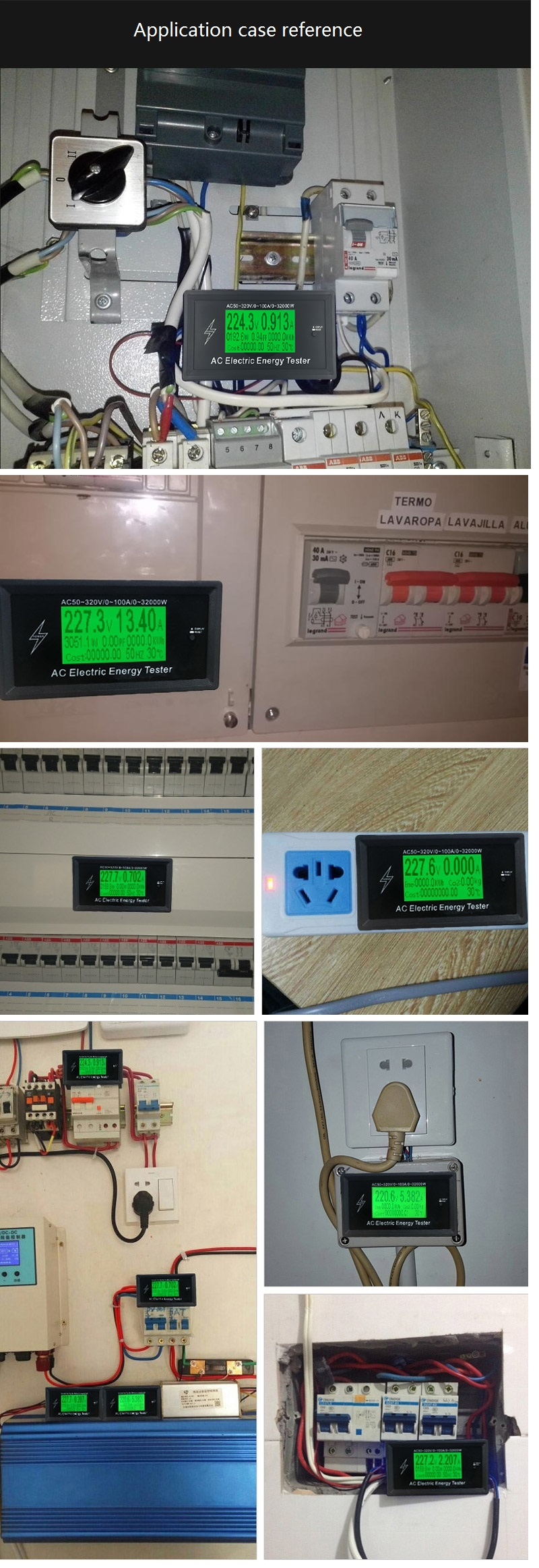 At3010 Ac50320v 100a 3kkw Phone App Ac Meters Digital Voltage Volt Amp Ampere Meter With Pic Shipping Methods