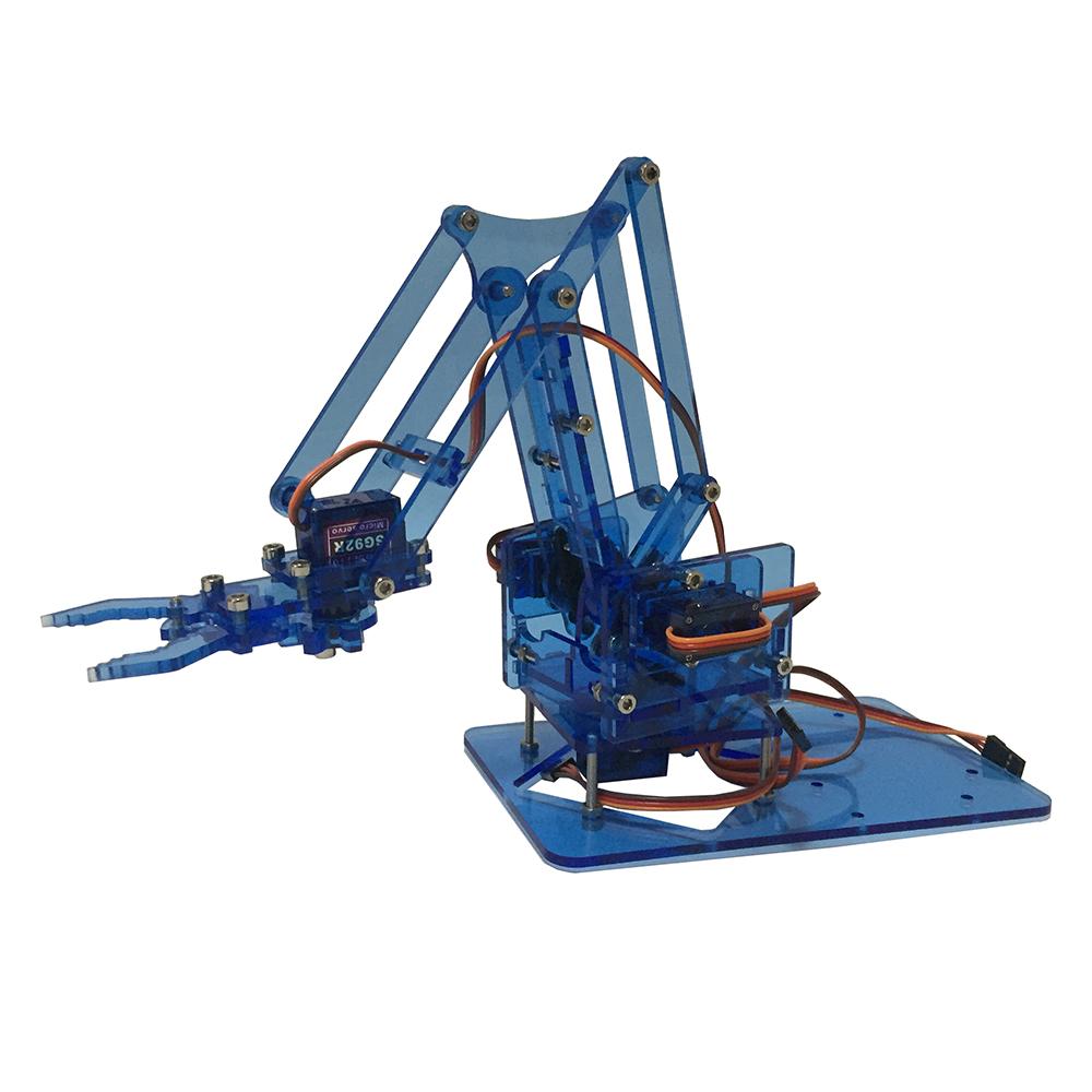 Mearm DIY Mini Colorful Industrial Robot Arm Rotating Mechanical Acrylic Pocket Robotic Arm