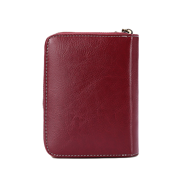 Brenice Retro Genuine Leather Card Holder Purse Wallet
