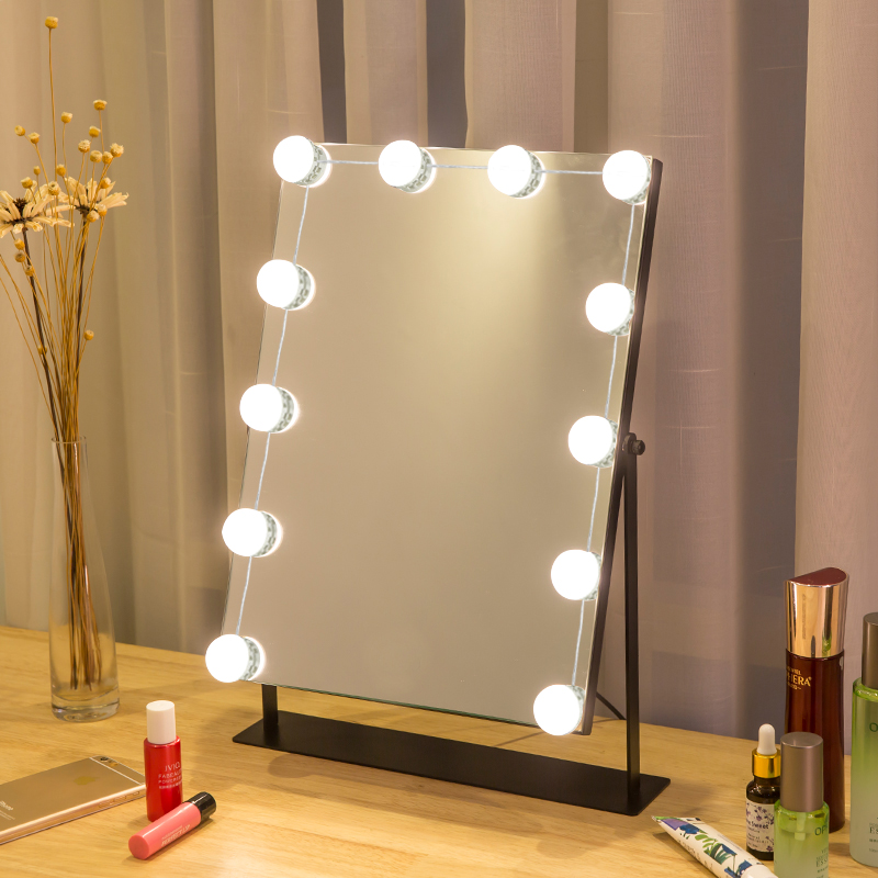 12 LED Lamp String Makeup Mirror Lamp USB Cosmetic Dressing