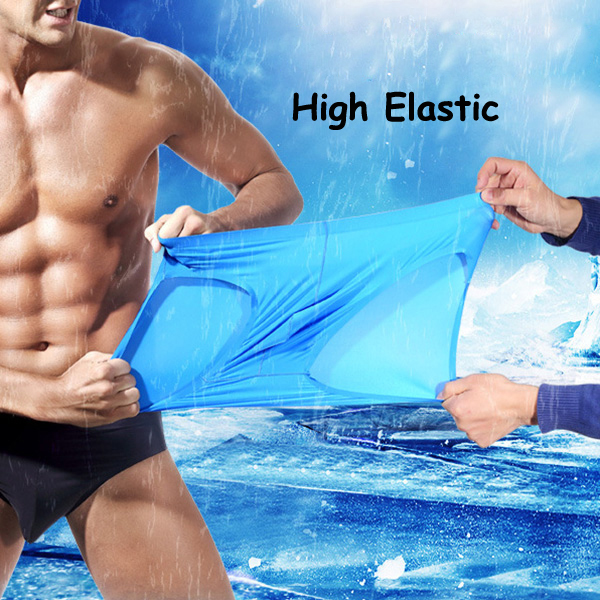 Mens Breathable Ice Silk Seamless Briefs