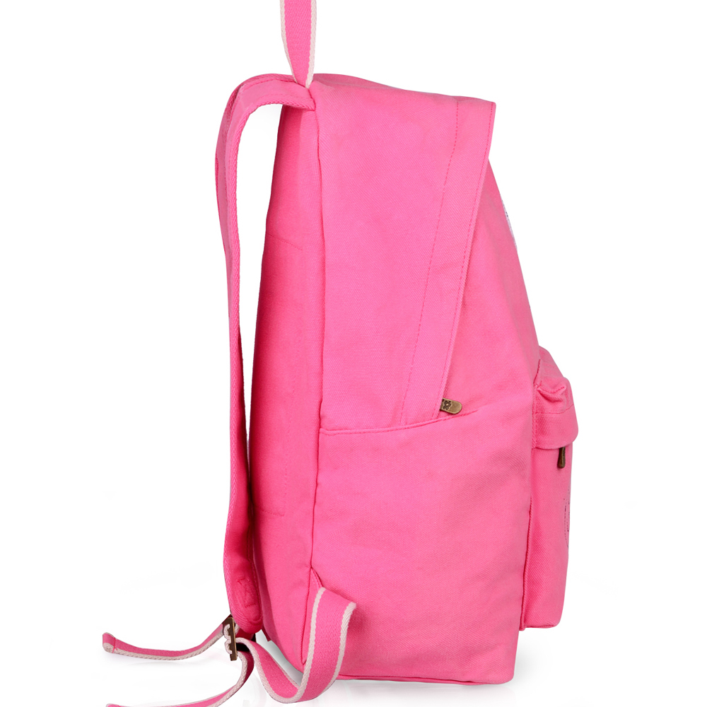 Women Alphabet Canvas School Backpack