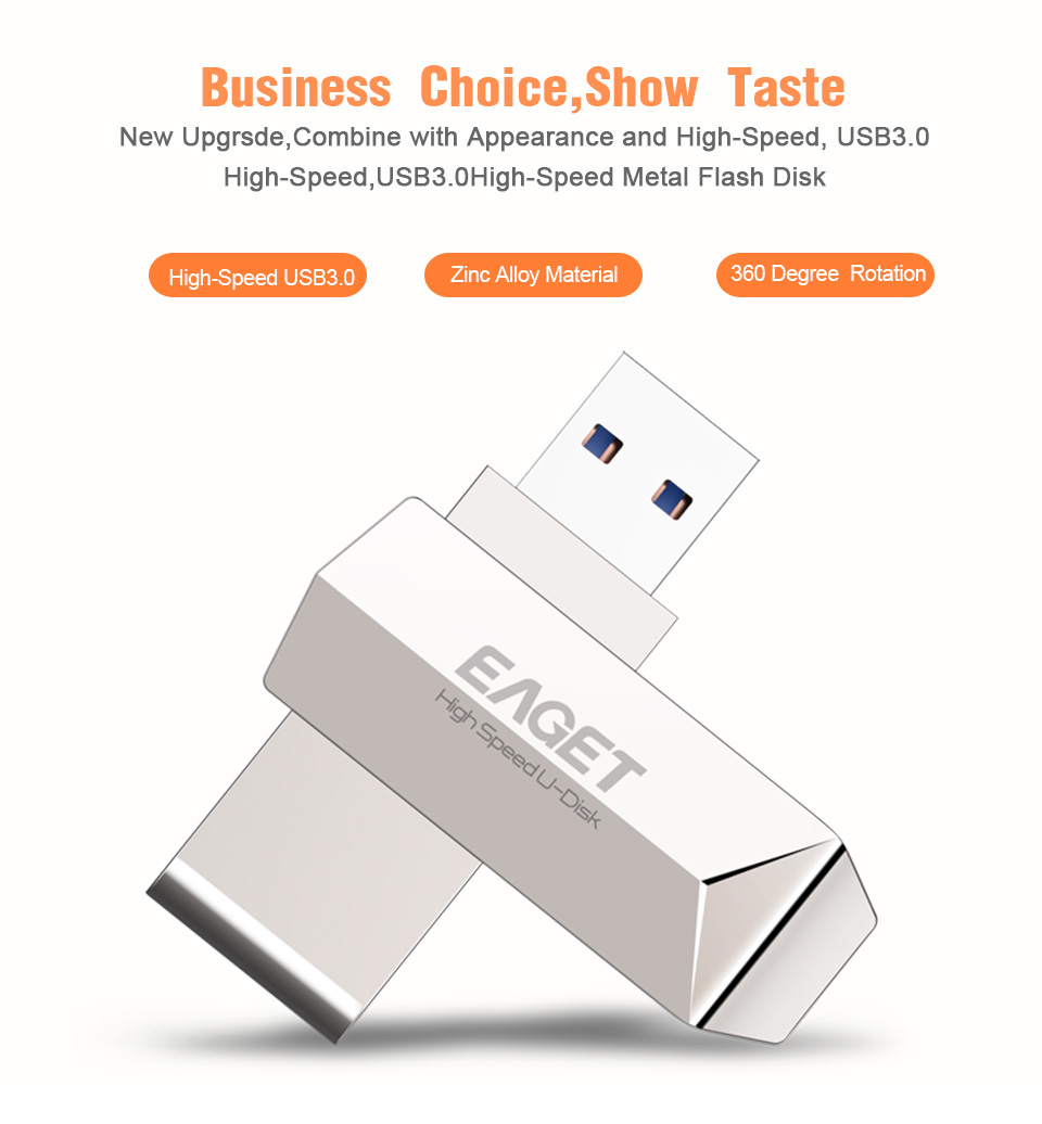 eaget f70 usb 3 0 128gb metal usb flash drive u disk pen drive 360