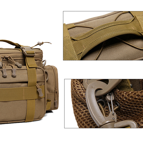 Nylon Waist Bag Outdoor Sports Waterproof Tactical Package Shoulder Crossbody Bag For Men