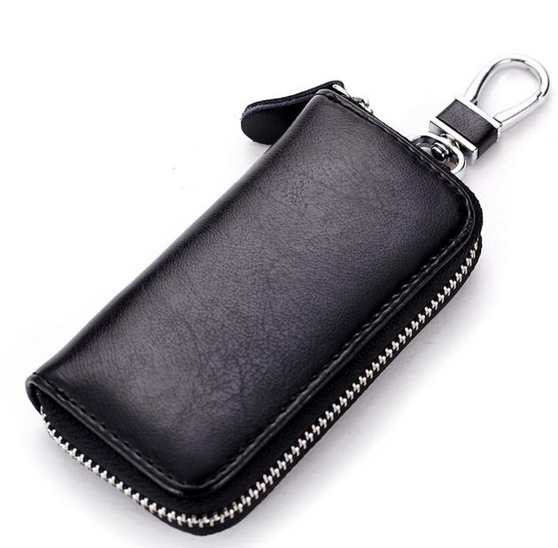 Multifunctional Genuine Leather Car Key Bags Keys Pouch Small Card Wallets