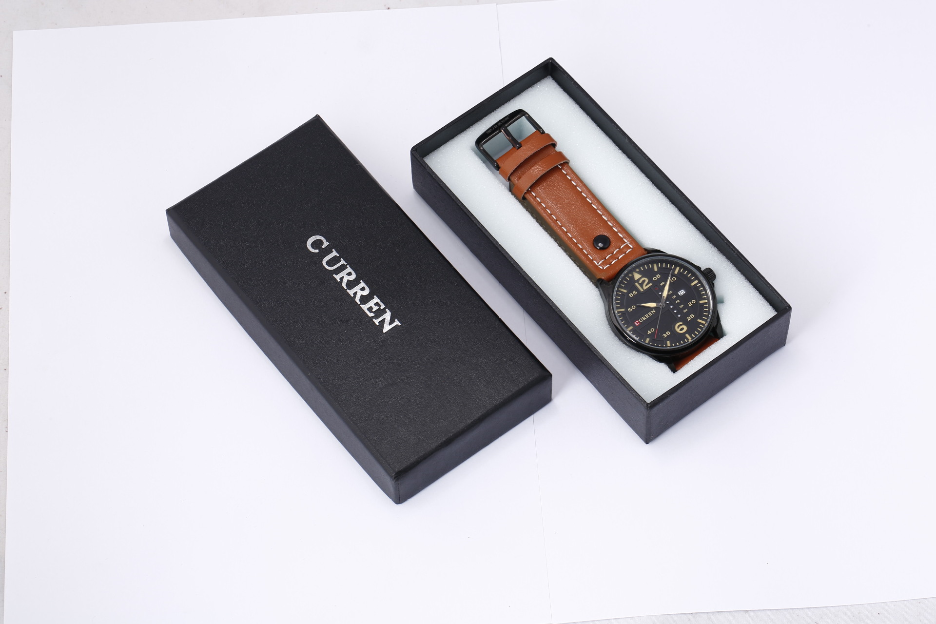 CURREN Brand Paper Material Gift Watch Box with Pillows