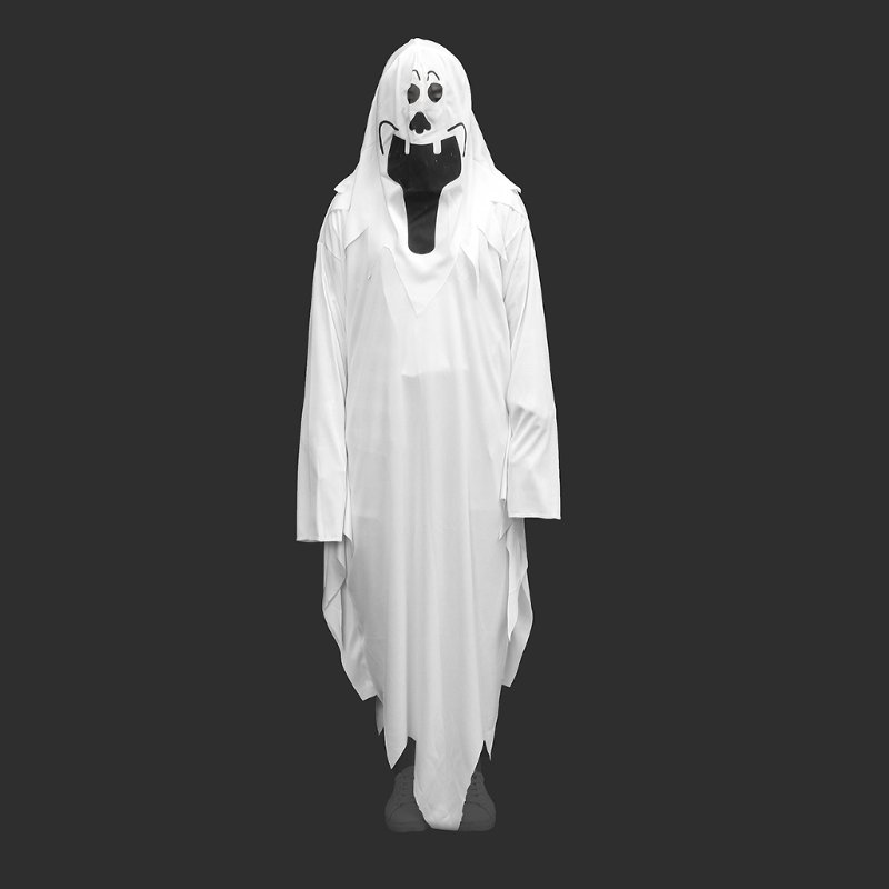 Halloween Party Fancy Dress Unisex Adult Children White Scary Ghost Costume