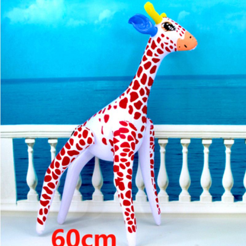 Inflatable Giraffe Zoo Animal Blow Up Inflate Party Toy Pool Party Decor Gift