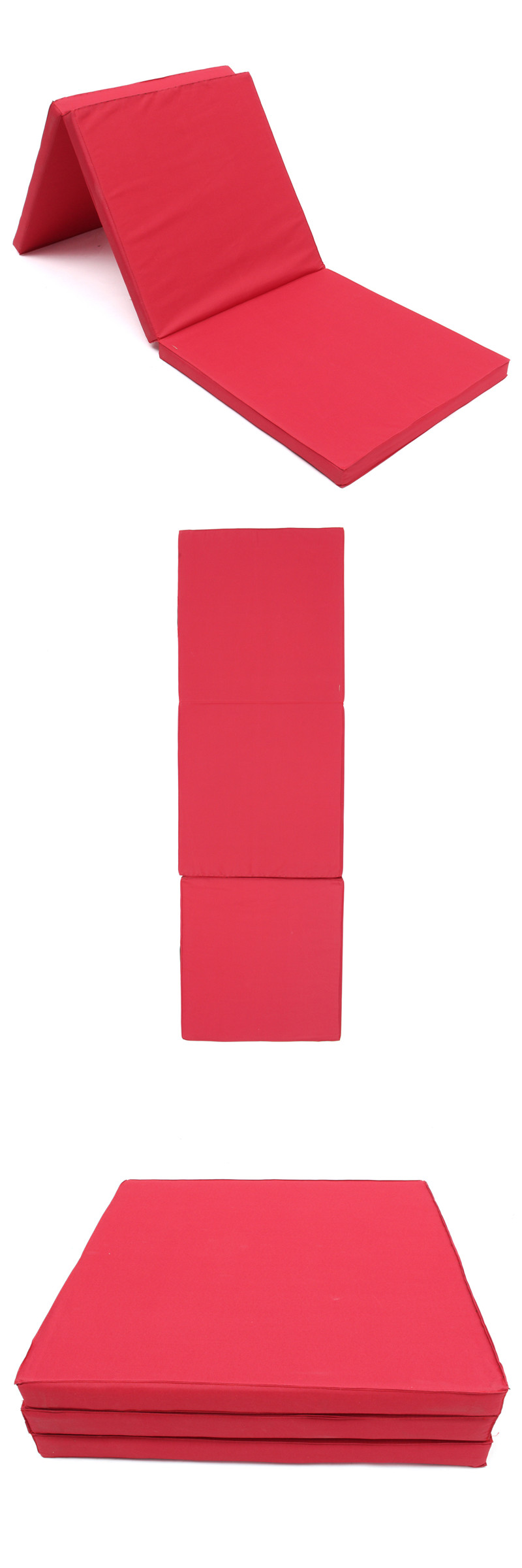 71x24x2inch Folding Panel Gymnastics Mat Gym Exercise Yoga Tri Pad