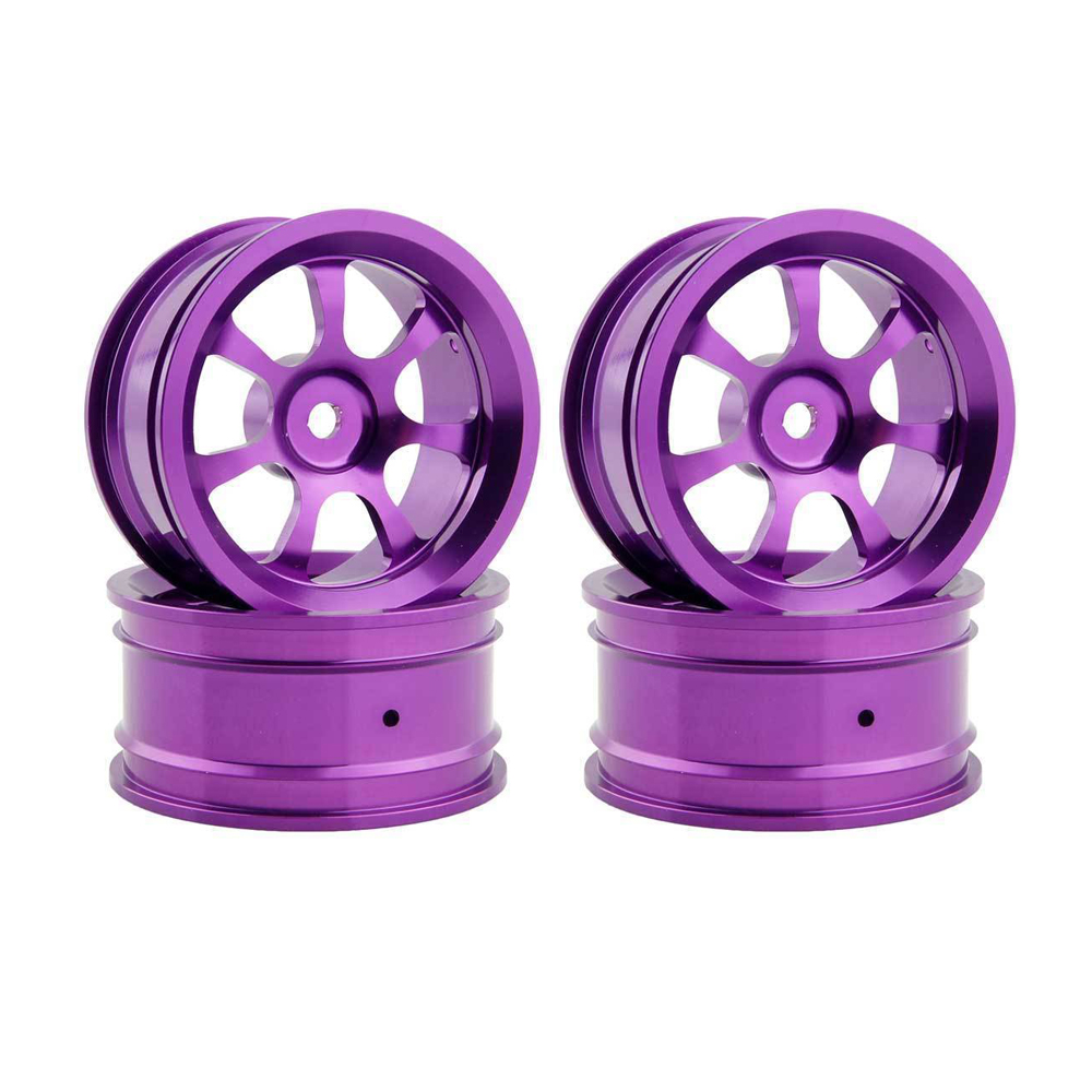 4pcs Hub Rc Car Parts Aluminum Wheel 4pc D:52mm W:26mm For HSP HPI 1/10 On-Road Drift 107P