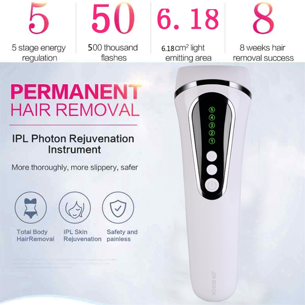 500000 Pulses Laser IPL Permanent Hair Removal Epilator