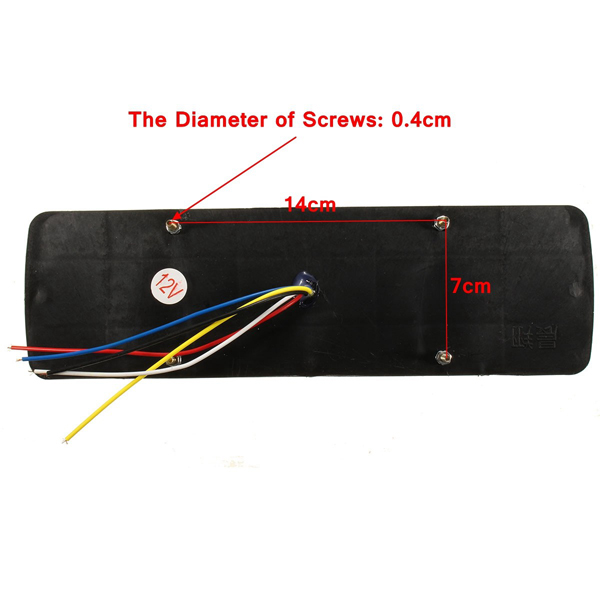 2x 12V LED Trailer Truck Rear Tail Brake Stop Turn Light Indicator Reverse Lamp