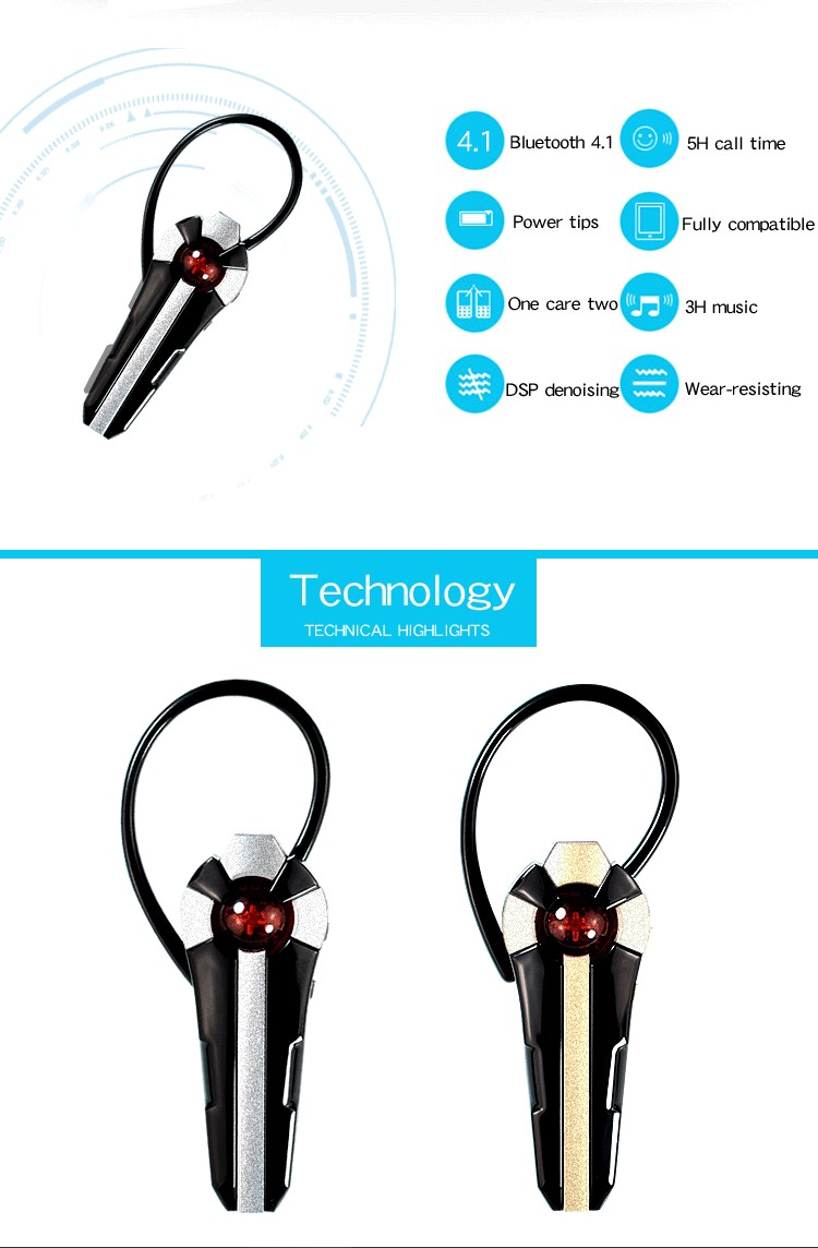 WY D12 Unilateral Wireless bluetooth Earphone Noise Reduction Sports Headphone for iPhone Xiaomi