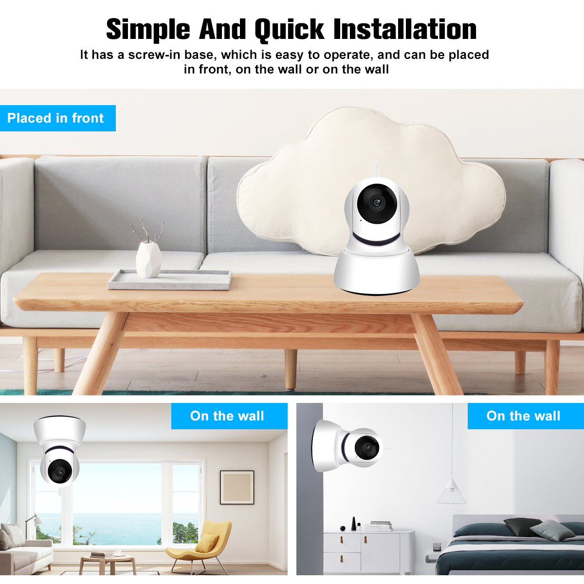 1080P Wireless Wifi Smart IP Camera Monitor Motion IR Night Light Cloud Storage