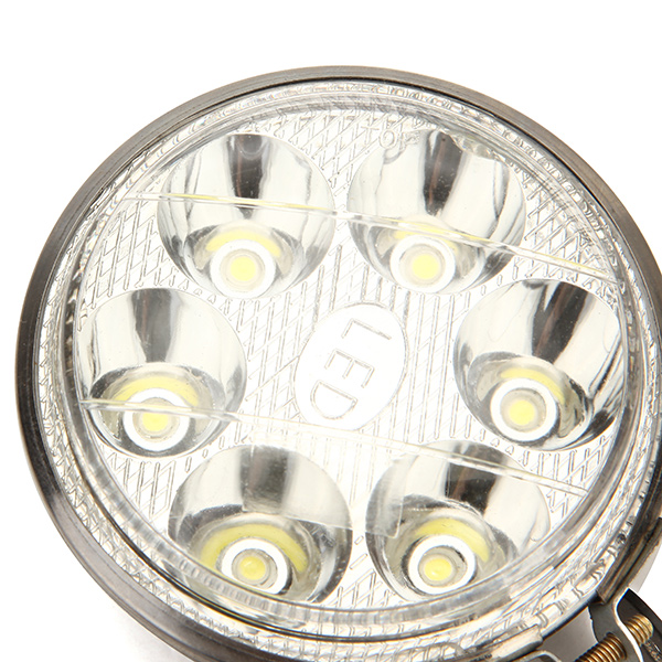3 Inch 12-80V Round 6 LED Headlight for Motorcycle Car Electric Scooter