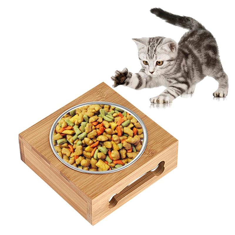 Dog Bowl Single Cat Pet Bowl Puppy Cat Feeders Drink Feeding BamboocCombo Bowl