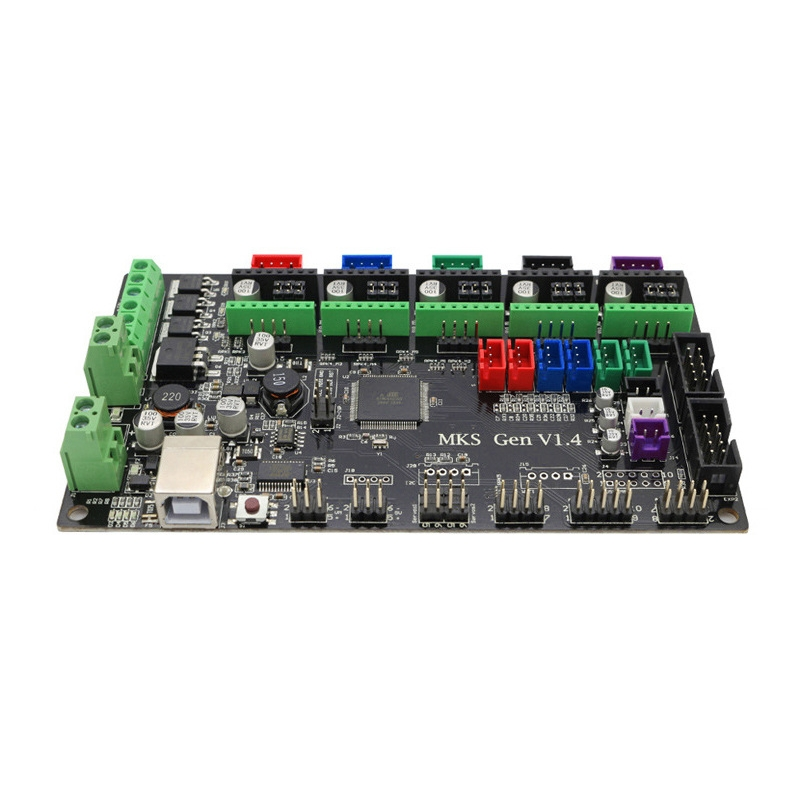 MKS-GEN V1.4 Integrated Controller Mainboard + 2.8 Inch MKS-TFT28 Full Color LCD Touch Screen Support Power Resume Print Compatible RepRap Ramps1.4 For 3D Printer