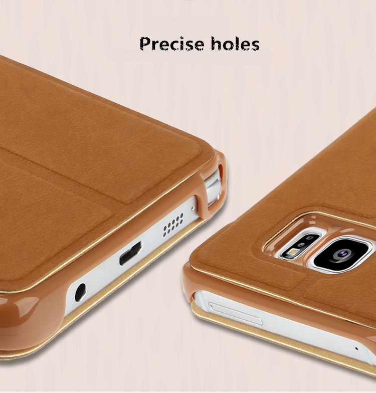 Baseus Brand Flip Leather Stand Case Cover For Samsung Galaxy Note 5