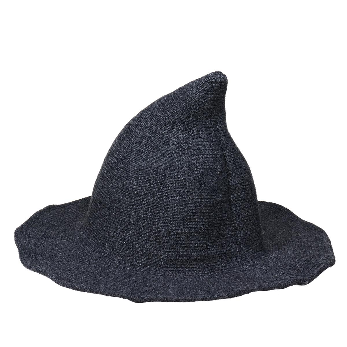 Halloween Party Spire Hat Witch Magic Hat Autumn Winter Knit Hat