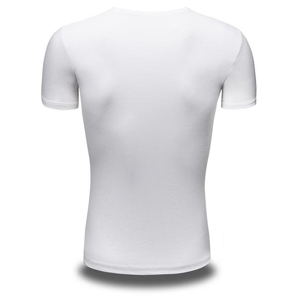 Summer Men's Fashion Boxing Panda Print T-shirt Casual Round Neck Short Sleeved Tops Tees